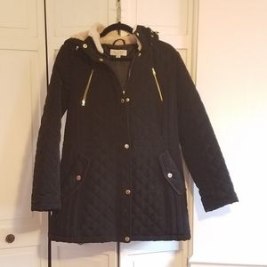 Laundry by Shelli Segal Black Quilted Coat
